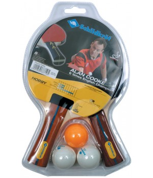Table Tennis Set Schildkröt Alan Cooke Hobby 2 Player